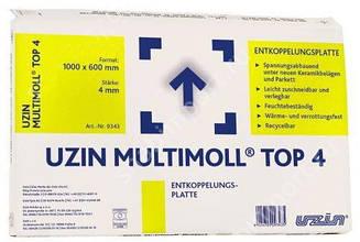 Изолирующая и разделительная подложка UZIN Multimoll Top 4 (4 мм)