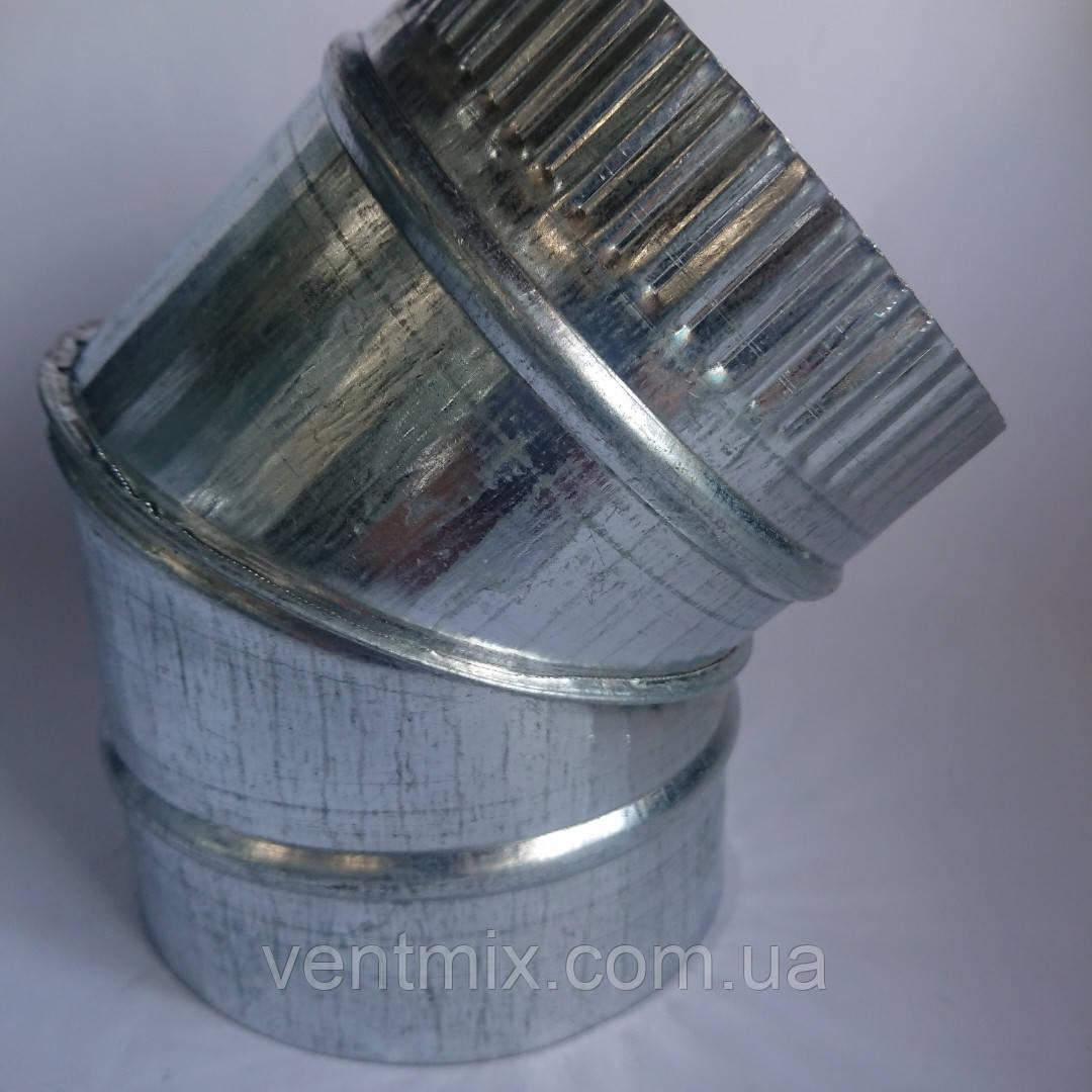 Отвод 45* d 100 мм из оцинкованной стали