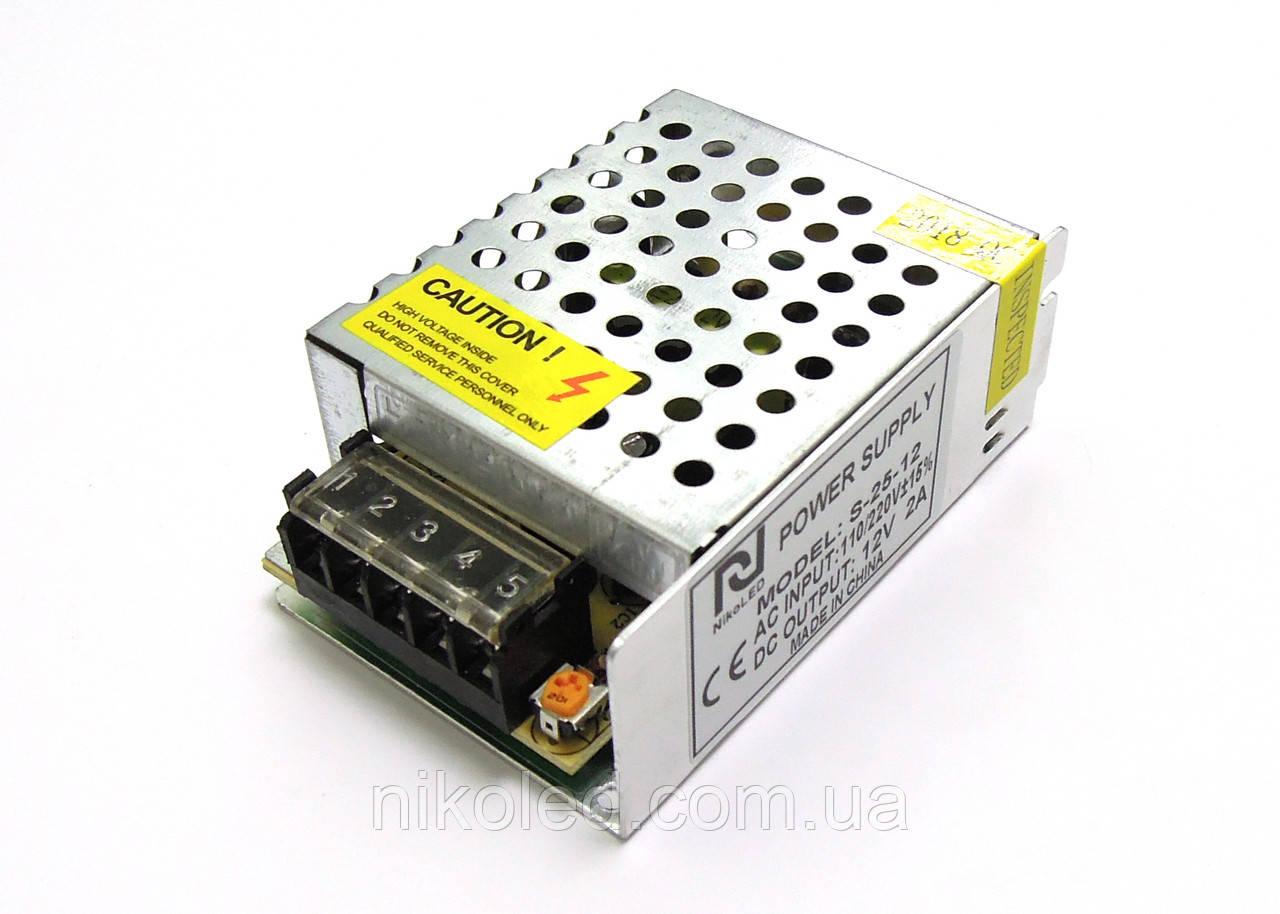 Блок питания негерм 220VAC 12VDC 2A S