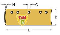 Нож ковша (режущая кромка) 2438х152х13 мм Caterpillar 9W2301
