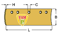 Нож ковша (режущая кромка) 2438х152х13 мм Caterpillar 9W2302