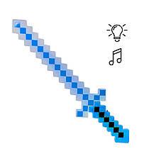 Меч Майнкрафт свет, звук (синий)