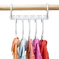 Органайзер вішалка SUNROZ Wonder Hanger для одягу в шафу Білий (SUN5605)