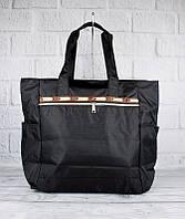 Сумка хозяйственная, шоппер текстильная черная LeSportsаc 9802-01, фото 1