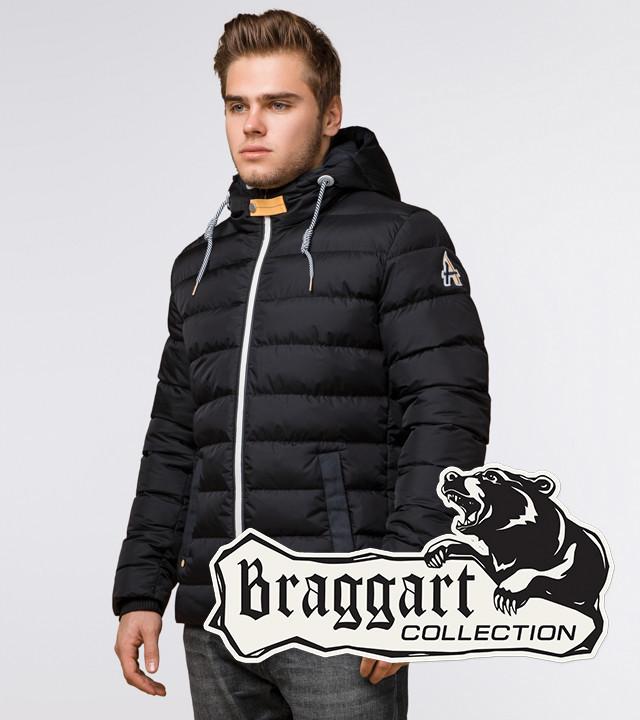 Braggart Aggressive 35228 | Куртка мужская зимняя черный-желтый