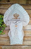 Нарядный конверт-плед для новорожденных на выписку, фото 1