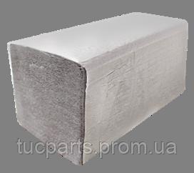 Бумажные полотенца серые V – образного сложения, для диспенсеров, 160 шт. в уп.
