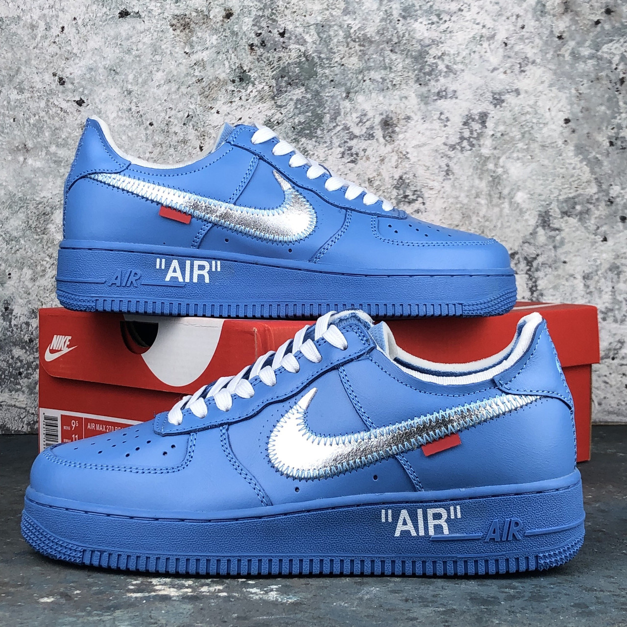 blue off white air force