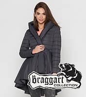 Молодежная  куртка женская весенне-осенняя  серая Braggart Youth