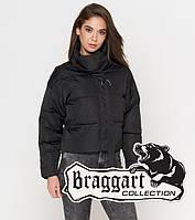 Качественная женская короткая осенняя куртка  черная Braggart Youth