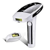 Домашний лазерный эпилятор Kemei KM 6812 Фотоэпилятор для всего тела Бело-Черный (2248)