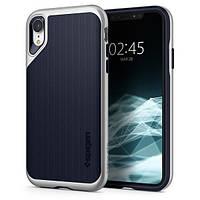 Накладка для iPhone XR пластик Spigen Neo Hybrid Satin Silver
