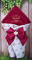 Нарядный  конверт-плед для новорожденных на выписку