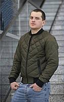 Куртка мужская демисезонная короткая, хаки, фото 1