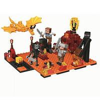 """Конструктор Bela My World (LEGO Minecraft) """"Нападение в нижнем мире"""" 215 деталей, 10963"""