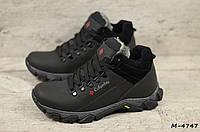 Мужские кожаные зимние ботинки (Код: М-4747  ) ►Размеры [40,41,42,43,44,45]