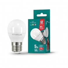 Светодиодная лампа LED TITANIUM G45 5W E27 4100K 220V