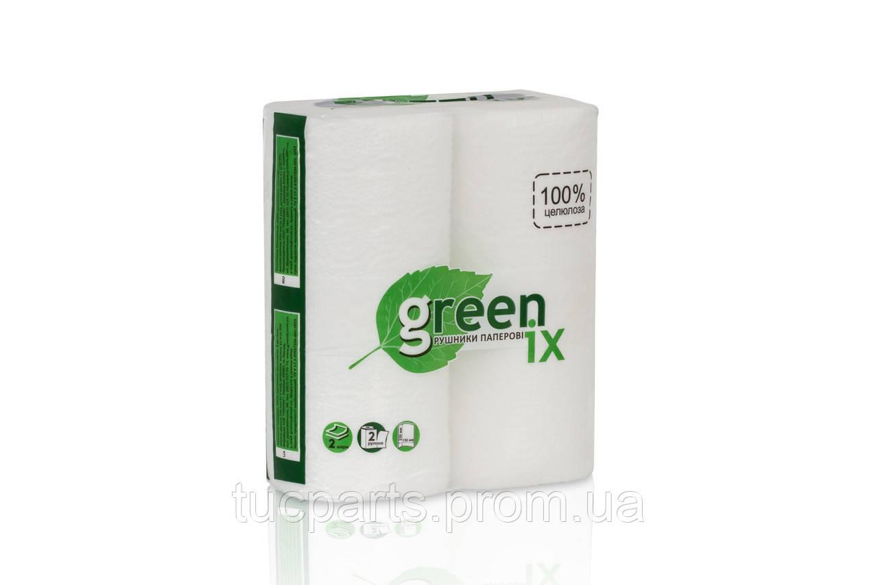 Полотенце белое 2 слоя, в прозрачной упаковке с логотипом, 2 рулона в упаковке, целлюлоза по 11 м. каждый
