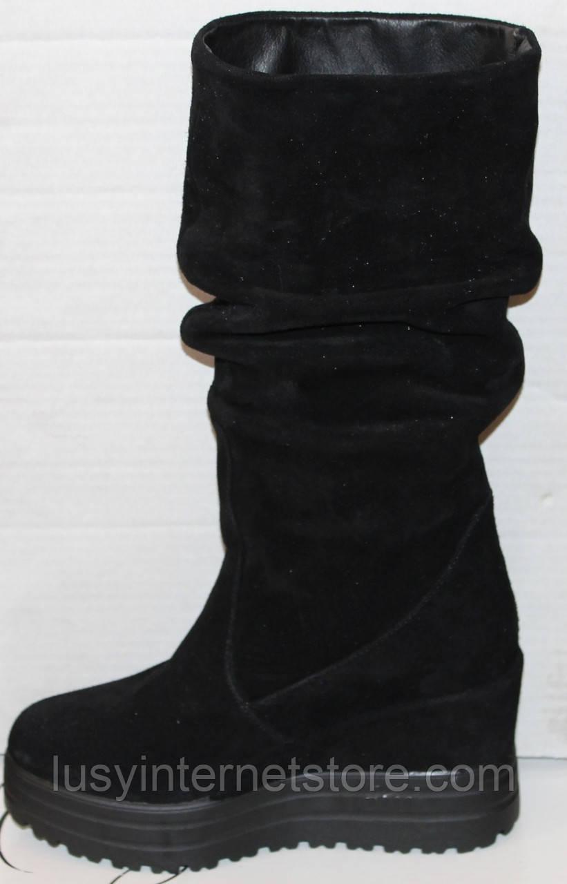 Сапоги женские замшевые зимние от производителя модель УН516