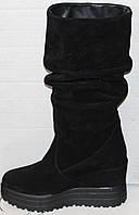 Сапоги женские замшевые зимние от производителя модель УН516, фото 1