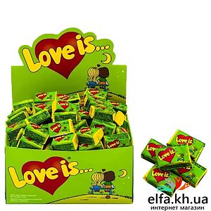 Жвачка Love is Яблоко-Лимон 50 шт