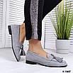 Стильные женские туфли лоферы с кисточками, фото 7