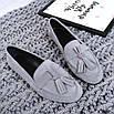 Стильные женские туфли лоферы с кисточками, фото 8