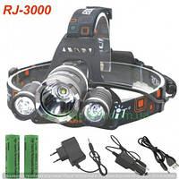 Фанарик налобный металический RJ3000-T6