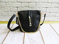 Женская стильная сумка на молнии с цепочкой 003
