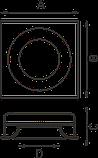 LED встраиваемый гипсовый светильник IP20, Световые технологии VULCANO 450 3000K [1665000020], фото 3