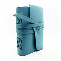 Кожаный блокнот COMFY STRAP В6 женский бирюза ручная работа, фото 3