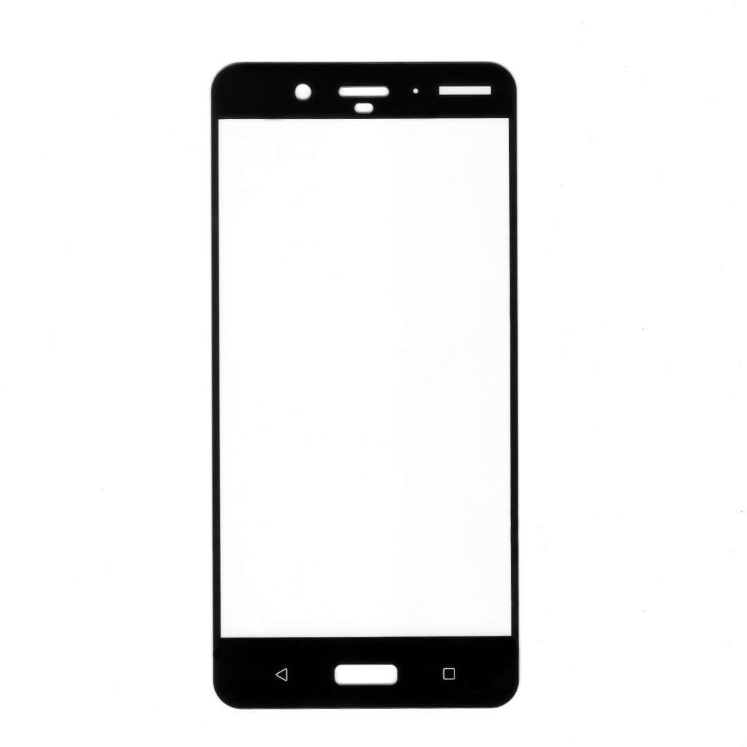 Защитное стекло 2,5D Full Cover для Nokia 8 (black silk)