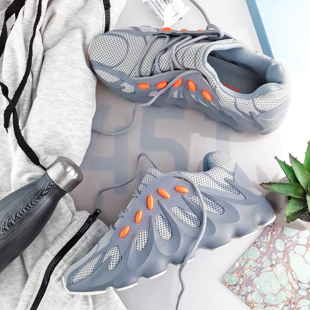 Мужские Кроссовки Adidas YEEZY 451 Grey/Orange