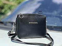 Маленькая черная женская сумочка через плечо клатч кросс-боди сумка на цепочке экокожа, фото 1