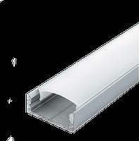 Комплект Biom профиль накладной ЛП7 анод + рассеиватель мат., фото 1