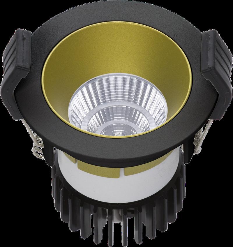LED встраиваемый светильник IP20, Световые технологии COOL 13 BL/GL D45 3000K [1412000390]