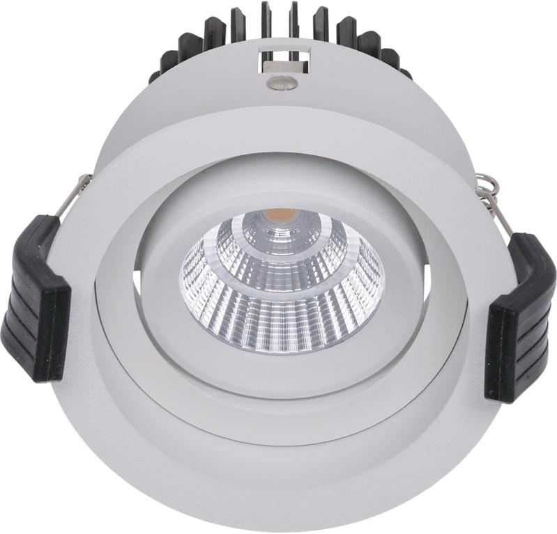 LED встраиваемый светильник IP20, Световые технологии RAMO 07 WH D45 4000K [1258000040]