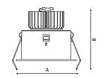 LED встраиваемый светильник IP20, Световые технологии RAMO 07 WH D45 4000K [1258000040], фото 3