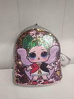 Стильный детский рюкзак для девочек, детская сумка для прогулок, дитячий ранець (серый)