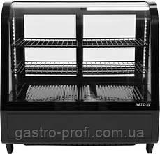 Витрина кондитерская холодильная 100 л черная YatoGastro YG-05020