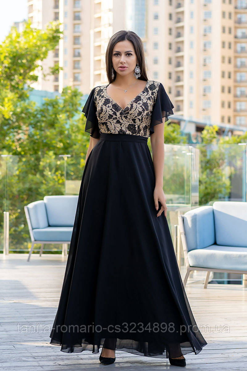 Вечернее платье 9142e Чёрный S(р)