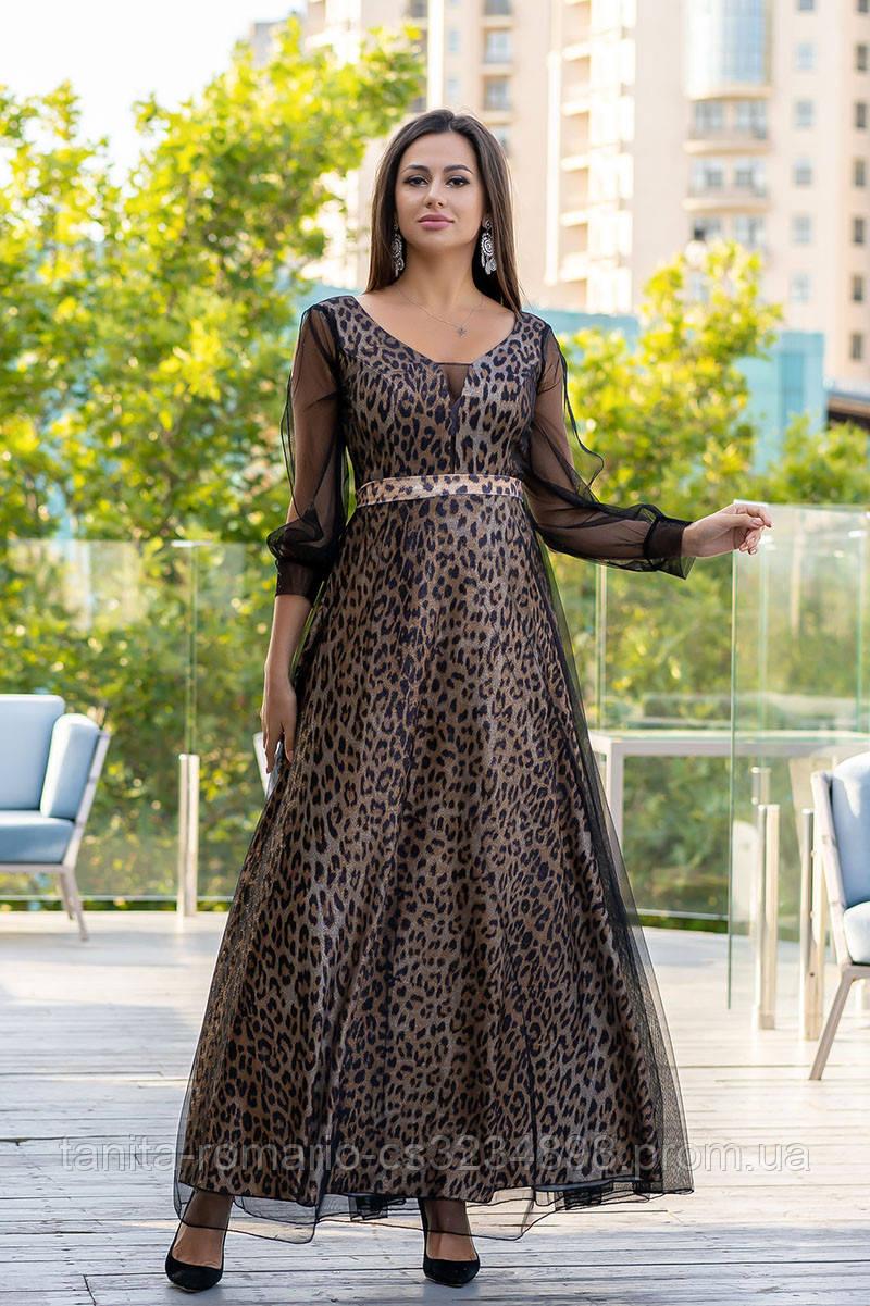 Вечернее платье 9147e Золотой L(р)