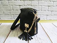 Женская стильная сумка на молнии с цепочкой 008