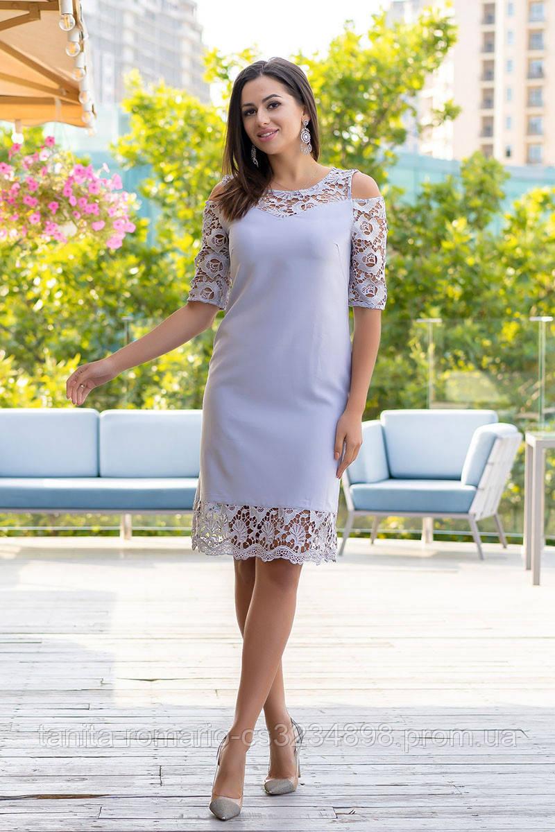 Коктейльное платье 9164e Серый L(р)