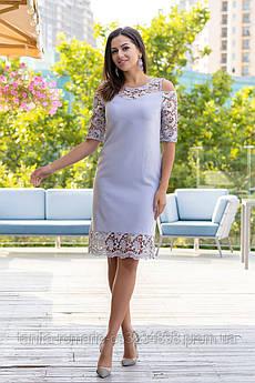 Коктейльное платье 9164e Серый  S M L