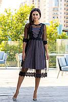 Коктейльное платье 9176e Чёрный M(р)
