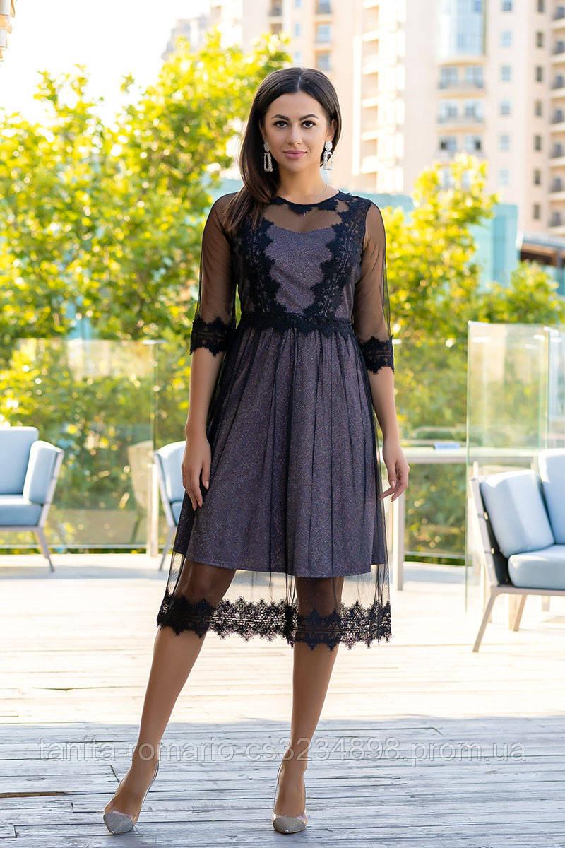 Коктейльное платье 9176e Чёрный  S M L