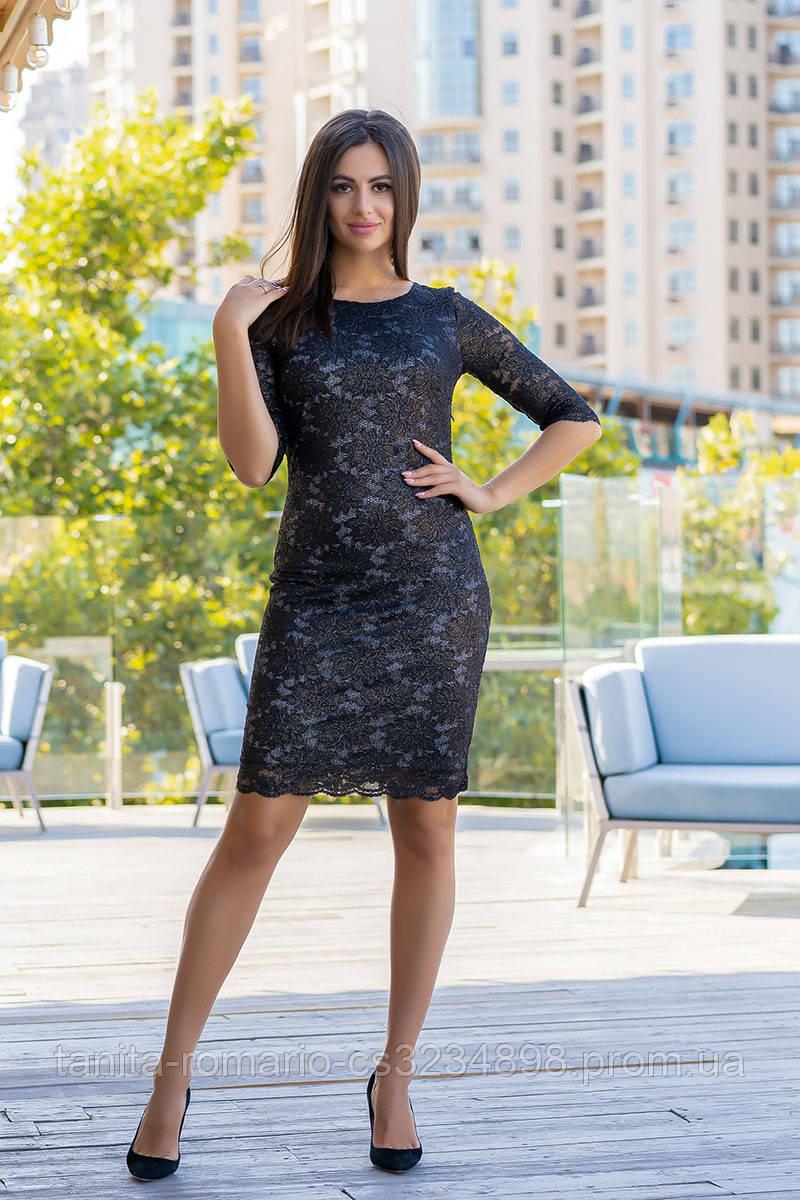 Коктейльное платье 9182e Чёрный L(р)