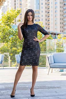 Коктейльное платье 9182e Чёрный  S M L