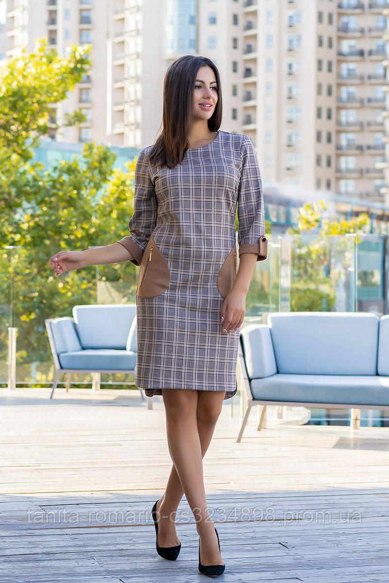 Повседневное платье 8142e Серый S(р)